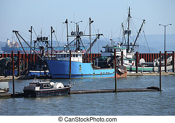 Fishing boats & small yachts in a m