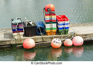 Fishing bouys, trays and paraphernalia - Trawler fishing ...