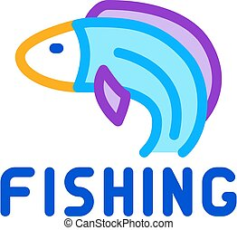 fishing business icon vector outline illustration
