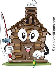 Fishing Cabin Mascot