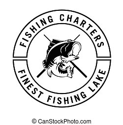 Fishing charter : Fisher label badge