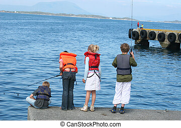 fishing children