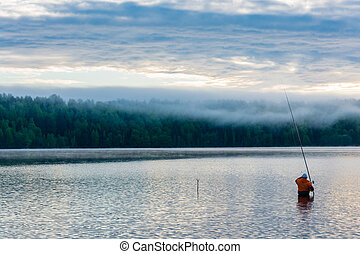 Fishing early in the morning.