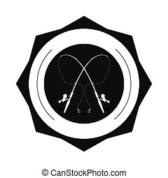 fishing emblem icon
