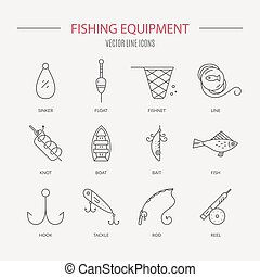 Fishing Equipment - Collection of different fishing gear...