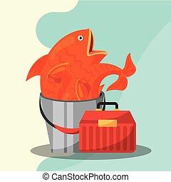 fishing equipment related - fishing equipment tackle box and...