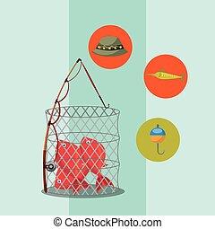 fishing fish cartoon
