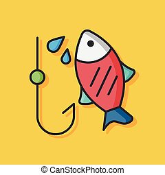 fishing fish vector icon