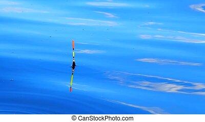 Fishing float In water