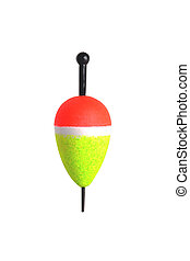 fishing float on a white background close-up isolate