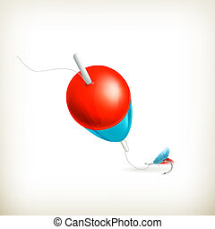 Fishing float, vector
