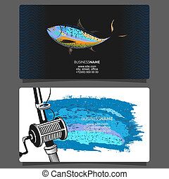 Fishing for tuna business card