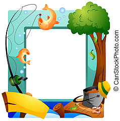 Fishing Frame with Clipping Path