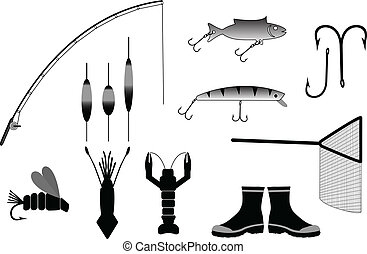 fishing gear vector illustration