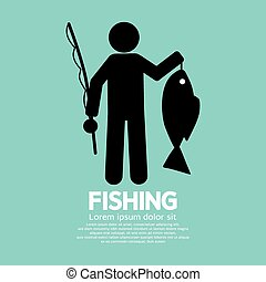 Fishing Graphic Sign.