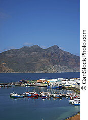 Fishing Harbour at Houts Bay - Fishing boats in the harbor ...