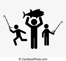 fishing icon design, vector illustration eps10 graphic