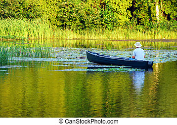 Fishing In A Canoe
