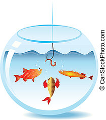 Fishing in fishbowl