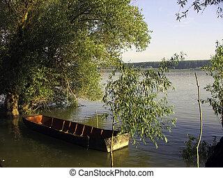 Fishing in morning