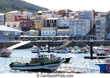 Fishing in the port of Finisterre