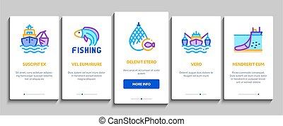 Fishing Industry Business Process Onboarding Elements Icons ...