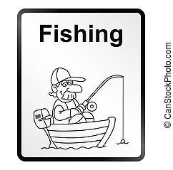 Fishing Information Sign