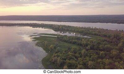 Fishing island aerial