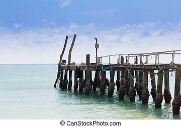Fishing jetty leading to the sea