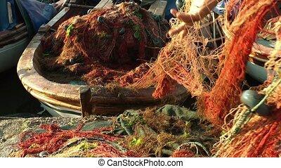 Fishing Line Detail of Fishnets
