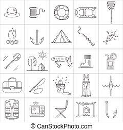 Fishing Line icons.