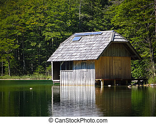 Fishing lodge with Solar array - A fishing lodge with Solar ...