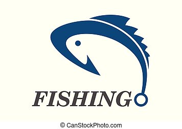 fishing logo vector icon