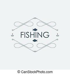 Fishing logo. Vector illustration