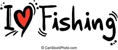 Creative design of fishing love