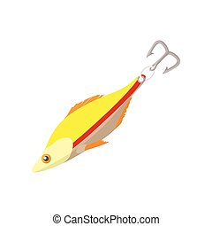 Fishing lure cartoon icon