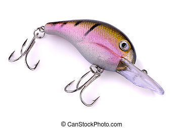 Fishing lure - Topwater fishing lure (wobbler) isolated on ...