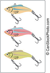 Fishing lures. - Fishing lures designs.