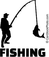 Fishing man with rod