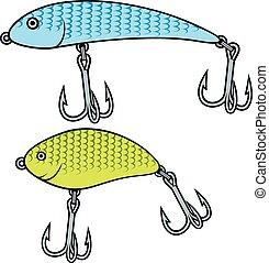 fishing nakrmit, wobbler, vybírání