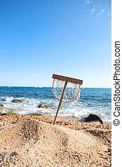Fishing net at the beach