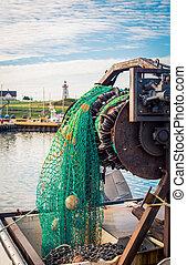 fishing net in a harbour