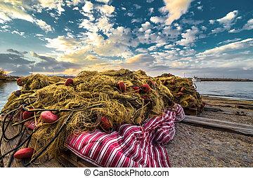 Fishing net in Sicily