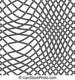 fishing net - transparent black fishing net on white...