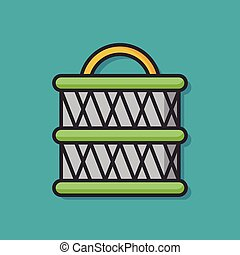 fishing net vector icon