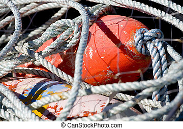 Fishing Net with Red Float