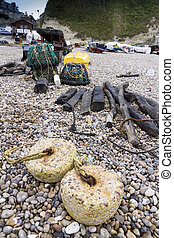 Fishing nets and associated paraphernalia