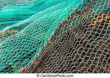 Fishing nets in the dock of Santa Pola, Spain