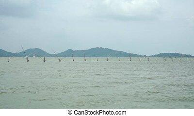 Fishing nets near Songkhla village, Thailand