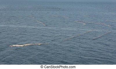 Fishing Nets on Sea Surface